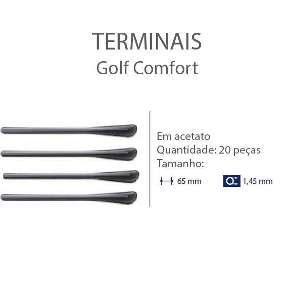 0200654 - Terminal Golf D=1,45mm Acetato Fume Mod 654 FLAG E - Contém 20 Peças SOB ENCOMENDA