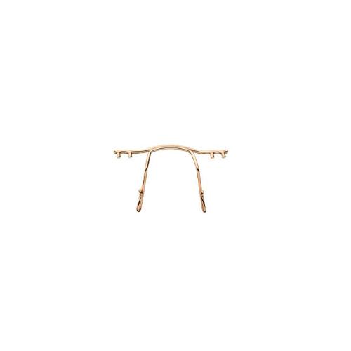 0200782 - Ponte Aço p/Armações de Pino Plastico 30mm Ouro Mod 782 FLAG E - Contém 1 Peça SOB ENCOMENDA