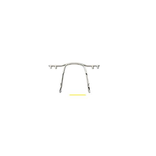 0200783 - Ponte Aço p/Armações de Pino Plastico 30mm Prata Mod 783 FLAG E - Contém 1 Peça SOB ENCOMENDA