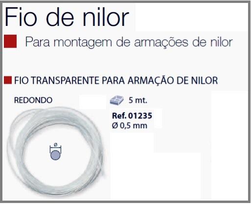 0201235-Espessura Fio_Nylon D=0,5mm Cristal Mod 1235 FLAG E - Contém 4 Metros  - SOB ENCOMENDA