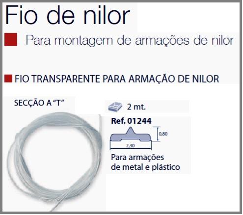 0201244 - Espessura 02 Fio_Nylon T 2,30x0,80mm Mod 1244 FLAG E  -Contém 2 Metros