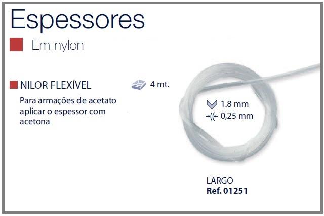 0201251 - Espessura 02 Fio_Nylon Flexivel Grande Mod 1251  -Contém 4 Metros