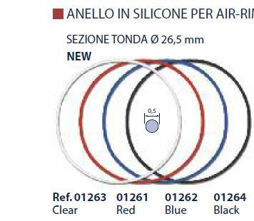 0201263 - Espessura Silicone Redondo D=0,5mm Cristal Mod 1263 FLAG E - Contém 20 Peças SOB ENCOMENDA