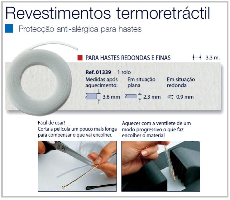 0201339 - Revestimento 02 Termoretrátil Ultra-Fino Mod 1339  -Contém 1 Peça