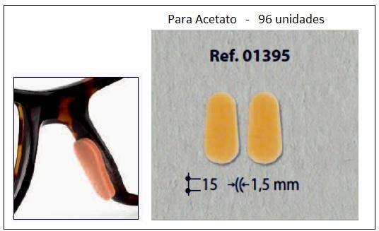 0201395 - Plaqueta Adesiva Espuma para Acetato 15mm Mod 1395  -Contém 96 Peças