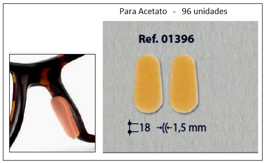 0201396 - Plaqueta Adesiva Espuma para Acetato 18mm Mod 1396 FLAG E  -Contém 96 Peças