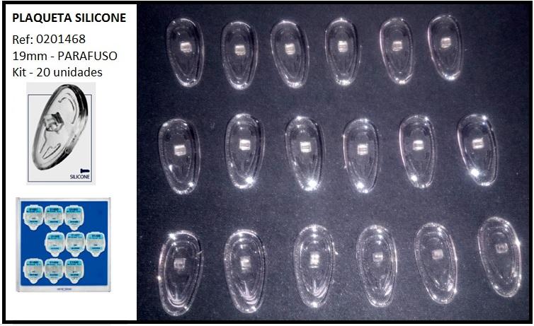 0201468 - Plaqueta 02 Silicone/Parafuso Gota 19mm Mod 1468 FLAG E  -Contém 20 Peças