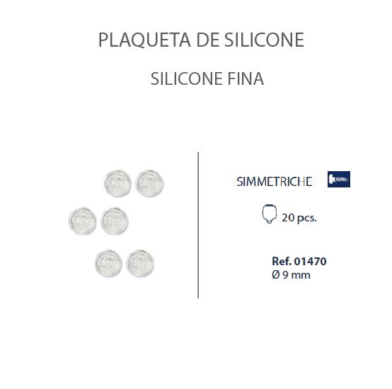 0201470 - Plaqueta 02 Slim Silicone/Parafuso Redonda 9mm Mod 1470 FLAG E  -Contém 20 Peças