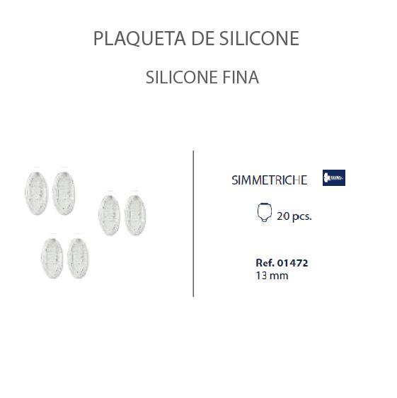 0201472 - Plaqueta 02 Slim Silicone/Parafuso Oval 13mm Mod 1472  -Contém 20 Peças