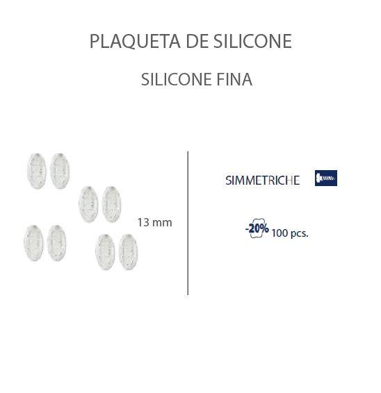 0201472H-Plaqueta Slim Silicone/Parafuso Oval 13mm Mod 1472H FLAG E - Contém 100 Peças  - SOB ENCOMENDA