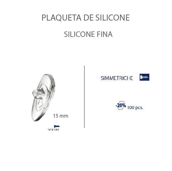 0201473H - Plaqueta Slim Silicone/Parafuso Gota 15mm Mod 1473H FLAG E - Contém 100 Peças SOB ENCOMENDA