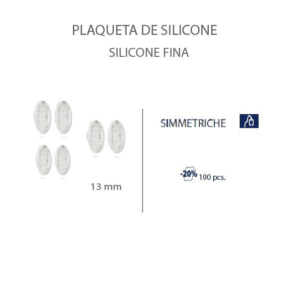 0201477H - Plaqueta 02 Slim Silicone/Encaixe Oval 13mm Mod 1477H FLAG E  -Contém 100 Peças