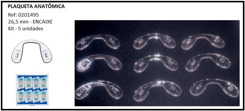 0201495 - Plaqueta Silicone/Encaixe Ponte Anatomica 26,5mm Mod 1495 FLAG E - Contém 5 Peças SOB ENCOMENDA