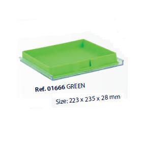 0201666-Organizador LabSystem Bandeja Caixa Verde Mod 1666 FLAG E - Contém 1 Peça  - SOB ENCOMENDA