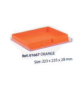 0201667-Organizador LabSystem Bandeja Caixa Laranja Mod 1667 FLAG E - Contém 1 Peça  - SOB ENCOMENDA