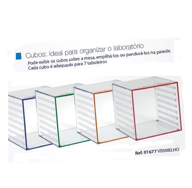 0201677 - Organizador LabSystem Cubo Verm Mod 1677 FLAG E - Contém 1 Peça SOB ENCOMENDA