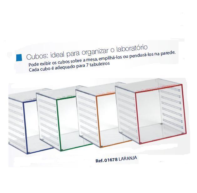 0201678 - Organizador LabSystem Cubo Laranja Mod 1678 FLAG E - Contém 1 Peça SOB ENCOMENDA