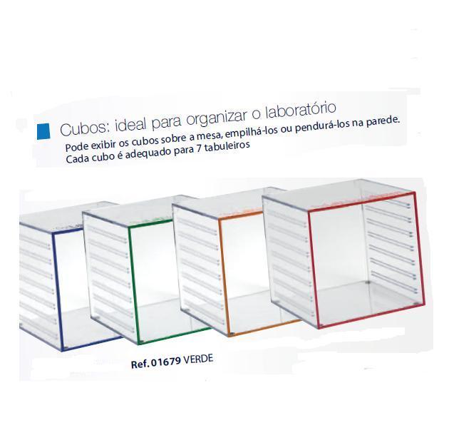 0201679 - Organizador LabSystem Cubo Verde Mod 1679 FLAG E - Contém 1 Peça SOB ENCOMENDA