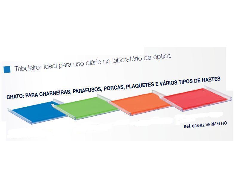 0201682-Organizador LabSystem Bandeja Pad Verm Mod 1682 FLAG E - Contém 1 Peça  - SOB ENCOMENDA