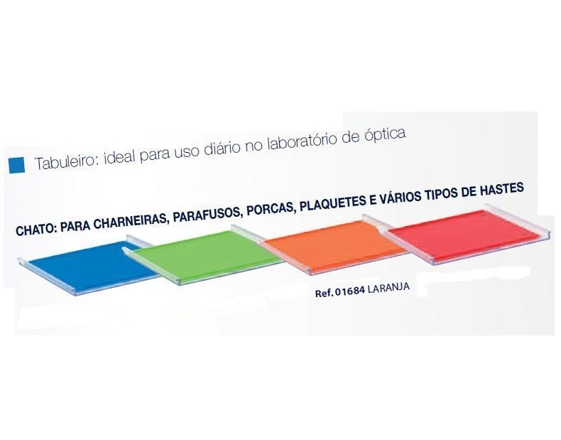 0201684-Organizador LabSystem Bandeja Pad Laranja Mod 1684 FLAG E - Contém 1 Peça  - ENTREGA IMEDIATA