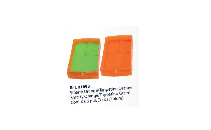 0201693-Organizador Caixa Smarty Laranja/Pad Laranja Vde Mod 1693 FLAG E - Contém 6 Peças  - SOB ENCOMENDA