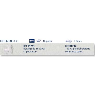 0201712 - Plaqueta Biofeel/Parafuso Gota 12,6mm Mod 1712 FLAG E - Contém 10 Peças SOB ENCOMENDA