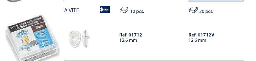 0201712V - Plaqueta 02 Biofeel/Parafuso Gota 12,6mm Mod 1712V  -Contém 20 Peças