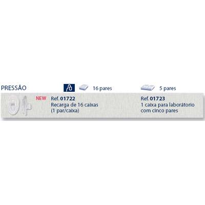 0201723 - Plaqueta 02 Biofeel/Encaixe Gota 12,6mm Mod 1723 FLAG E  -Contém 10 Peças