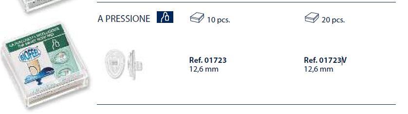 0201723V - Plaqueta 02 Biofeel/Encaixe Gota 12,6mm Mod 1723V  -Contém 20 Peças