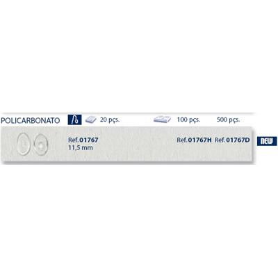 0201767H-Plaqueta Poli/Encaixe Especial Oval 11,5mm Mod 1767H FLAG E - Contém 100 Peças  - ENTREGA IMEDIATA