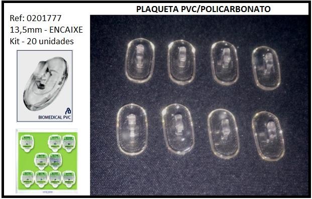 0201777 - Plaqueta 02 PVC+Poli/Encaixe Quadrada 13,5mm Mod 1777  -Contém 20 Peças