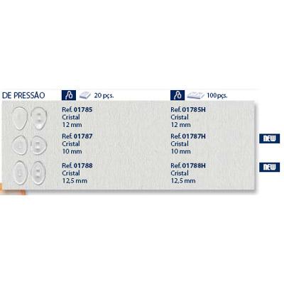 0201787 - Plaqueta Poli/Encaixe D-Shape 10,0mm Mod 1787 FLAG 9  -Contém 20 Peças