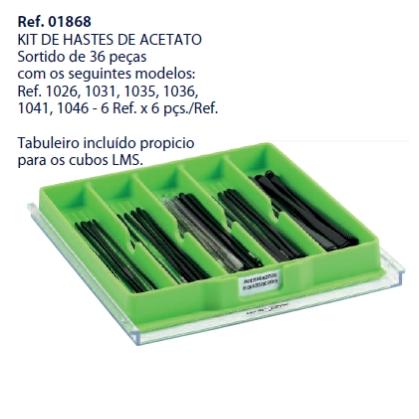 0201868 - Terminal 02 Acetato Bandeja Kit Mod 1868 FLAG E  -Contém 36 Peças