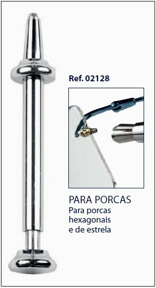0202128 - Chave Porca Universal Hexagonal Estrela Mod 2128  -Contém 1 Peça