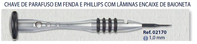 0202170 - Chave Lâmina 1,0mm Mod 2170 - Contém 1 Peça