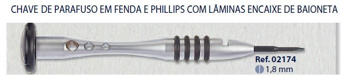 0202174 - Chave Lâmina 1,8mm Mod 2174  -Contém 1 Peça