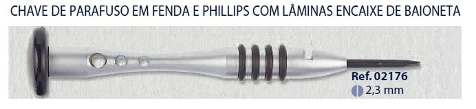 0202176 - Chave Lâmina 2,3mm Mod 2176 FLAG E - Contém 1 Peça SOB ENCOMENDA