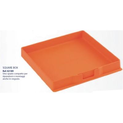 0202189-Organizador Box Silicone Laranja Mod 2189 FLAG E - Contém 1 Peça  - SOB ENCOMENDA