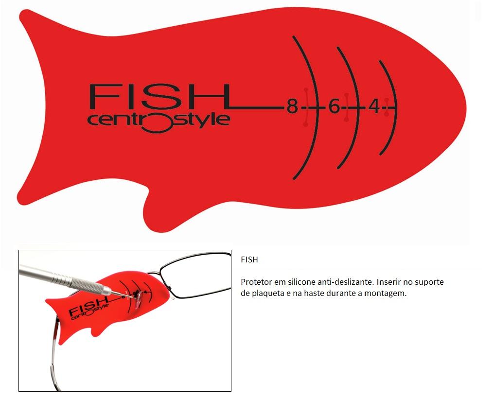 0202194 - Protetor_Lente 02 Fish em Silicone Mod 2194  -Contém 1 Peça