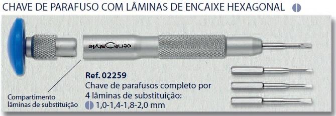 0202259 - Chave Lâminas 1,0/1,4/1,8/2,0mm Mod 2259 - Contém 1 Peça