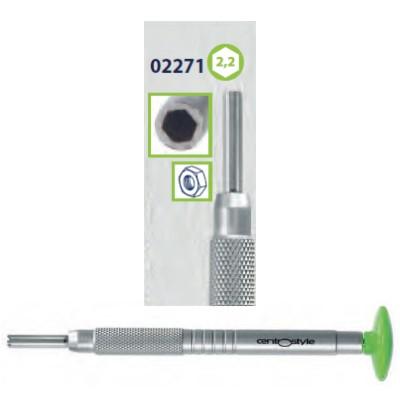 0202271 - Chave Porca Hexagonal 2,2mm Alumínio Verde Mod 2271 FLAG E  -Contém 1 Peça