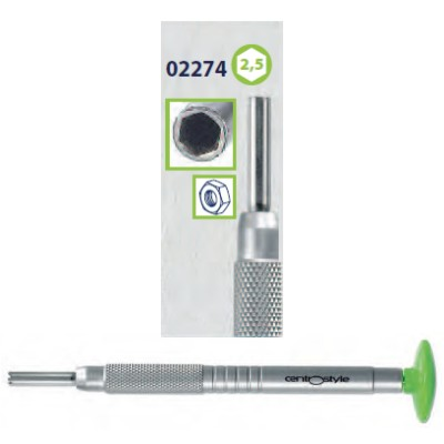 0202274 - Chave Porca Hexagonal 2,5mm Alumínio Verde Mod 2274 FLAG E - Contém 1 Peça SOB ENCOMENDA