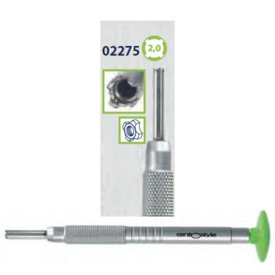 0202275 - Chave Porca 4 Pontas 2,0mm Alumínio Verde Mod 2275  -Contém 1 Peça