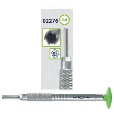0202276 - Chave Porca 6 Pontas 2,6mm Alumínio Verde Mod 2276 FLAG E - Contém 1 Peça SOB ENCOMENDA