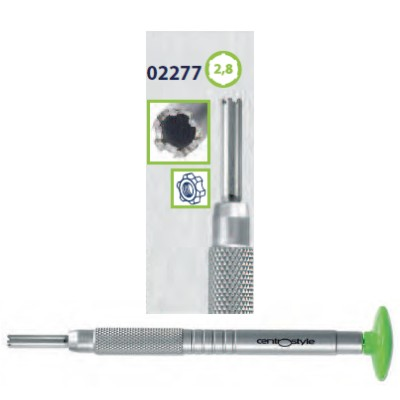 0202277 - Chave Porca 6 Pontas 2,8mm Alumínio Verde Mod 2277 FLAG E  -Contém 1 Peça