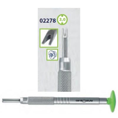 0202278 - Chave Porca 2 Pontas 3,0mm Alumínio Verde Mod 2278  -Contém 1 Peça