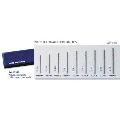 0202312 - Broca Aço Helicoidal 2x9 Modelos Kit Mod 2312 FLAG E  -Contém 18 Peças