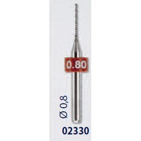 0202330-Broca Metal Duro 0,8mm Mod 2330 FLAG E - Contém 2 Peças  - ENTREGA IMEDIATA