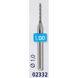 0202332-Broca Metal Duro 1,0mm Mod 2332 FLAG E - Contém 2 Peças  - SOB ENCOMENDA