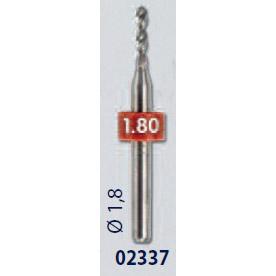 0202337 - Broca Metal Duro 1,8mm Mod 2337  -Contém 2 Peças